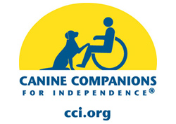 CCI logo in blue and yellow text reads Canine Companions for Independence cci.org