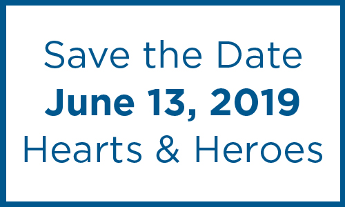 Save the Date Hearts and Heroes