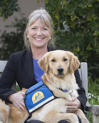 Paige Mazzoni with Canine Companions Service Dog