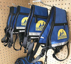 blue assistance dog vests
