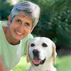 Person with Canine Companions dog