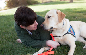 person and Canine Companions service dog