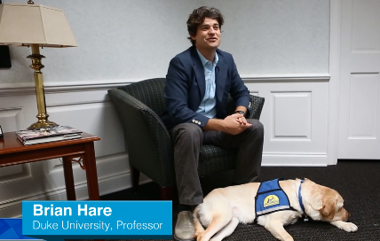 Brian Hare and Canine Companions service dog