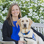 Dawn Gatley with Canine Companions service dog