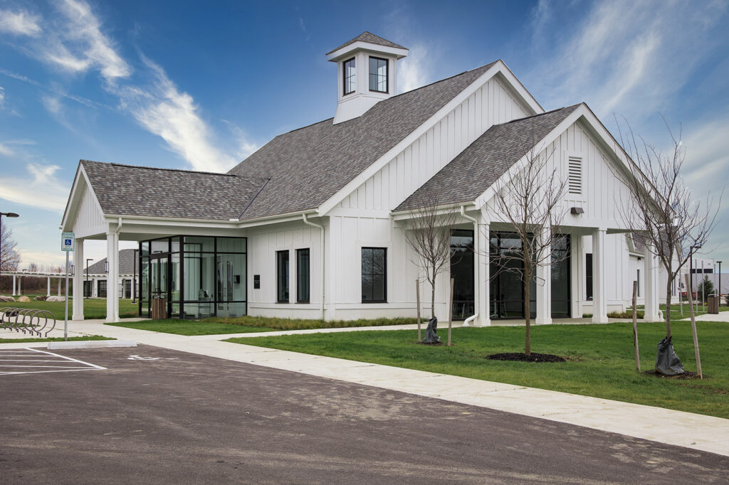 Admin building on New Albany campus