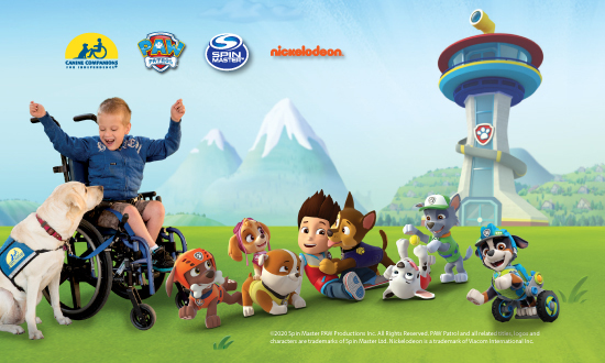 PawPatrol character with Canine Companions skilled companion team