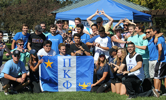 group of fraternity people
