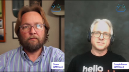 Image of 2 men taken from a virtual event