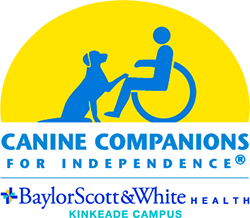 Canine Companions for Independence logo with Baylor Scott & White logo