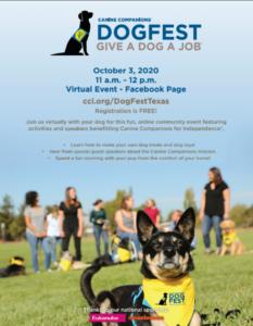 Dog Fest texas poster