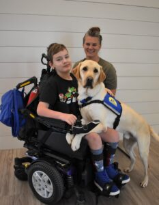 Buckeye with Kian in his wheelchair