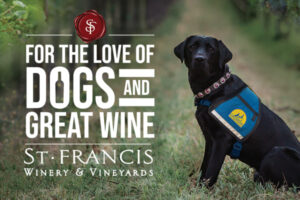 Service dog seating in wineyards