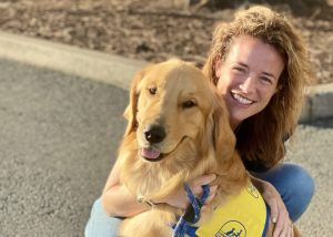 Emily and service dog
